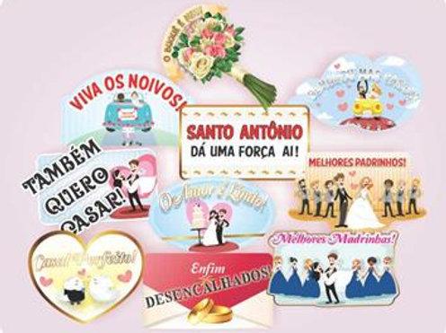 Placa Casamento c/ 10