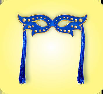 Mascara Azul c/ Chicote c/01