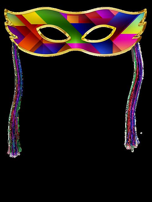 Mascara c/ Chicote Colorida c/01