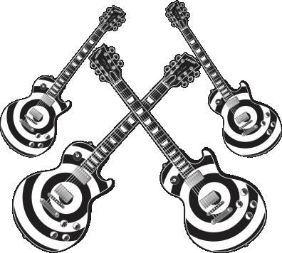 Kit Guitarra c/ 04 Preta e Branca