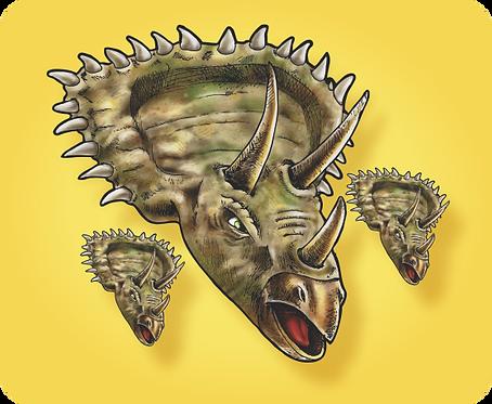 Kit Tricerátops c/ 03
