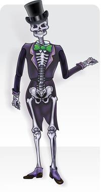 Painel Esqueleton Noivo c/ 01 Articulado