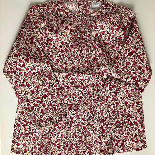 Tulips Cotton smocked Blouse 8Y