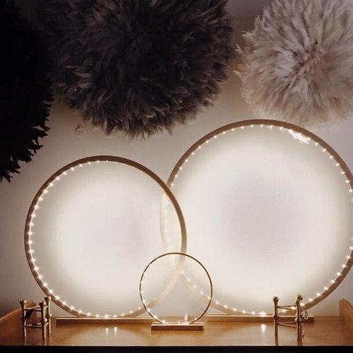 Natural raw wood LED Lamp 70 cm