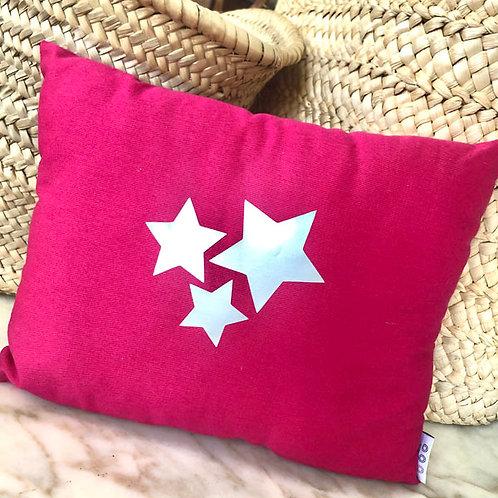 Pink Stars Mini Cushion