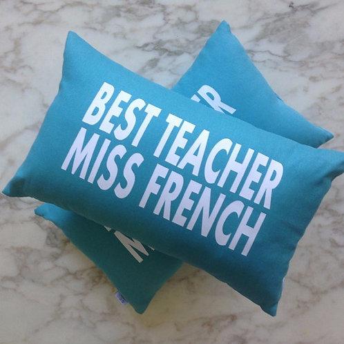 Personalised BEST TEACHER Cushion
