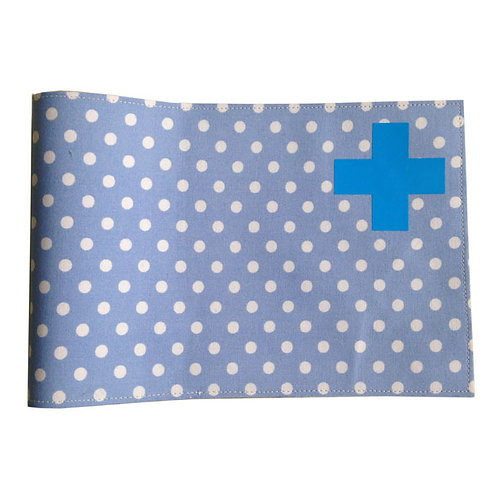 Health Book Cover - Blue dots & Blue cross