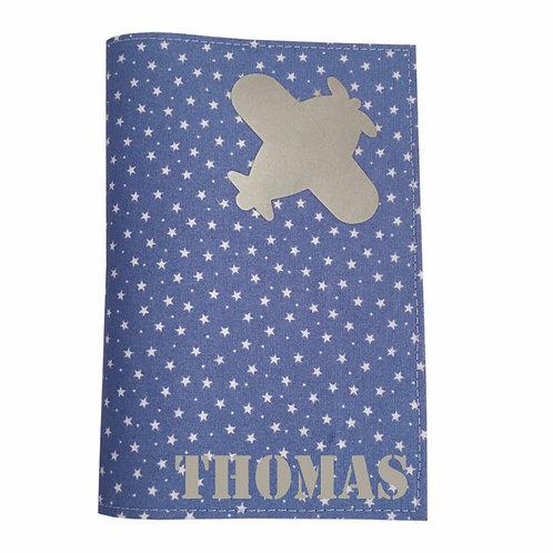 Passport Cover BLUE & WHITE STARS