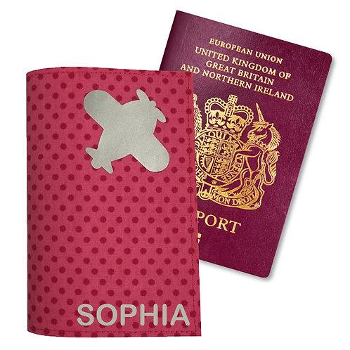 Passport Cover PINK DOTS