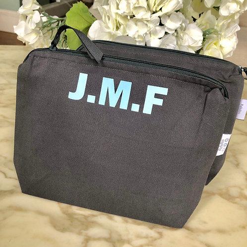 Dark Grey Wash Bag MEDIUM