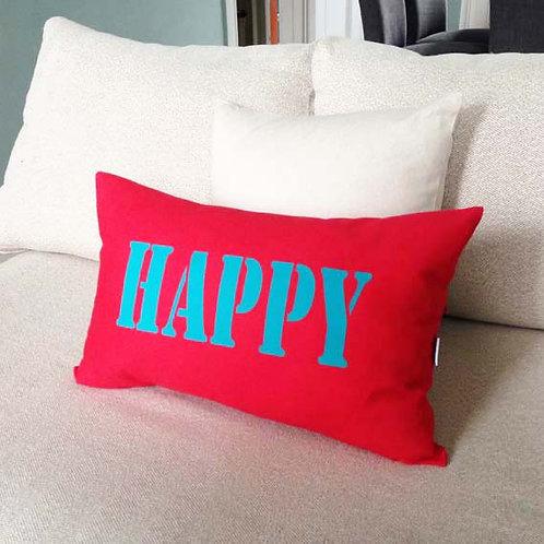Red HAPPY Cushion