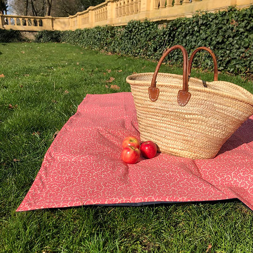 Picnic Blanket CORAL Print (small Size)