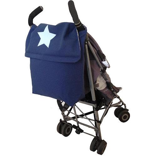 Blue STROLLER BAG with Light Blue Star