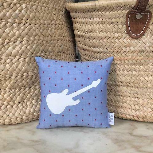 Dotty Blue Guitar Mini Cushion