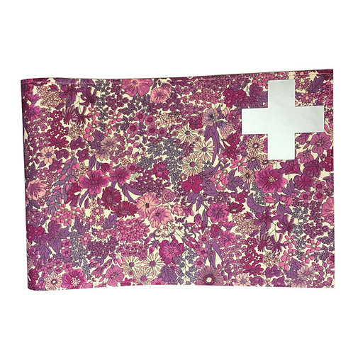 Health Book Cover - Heather Liberty & Silver cross