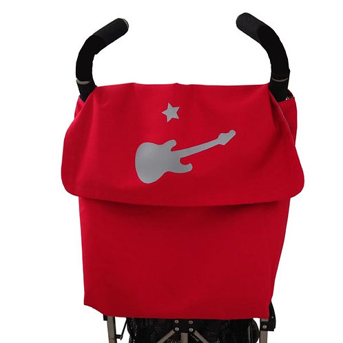 Red STROLLER BAG and Grey Guitar
