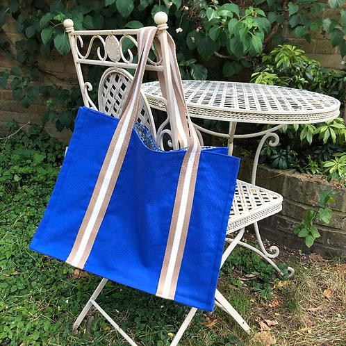 Blue Canvas SHOPPER BAG