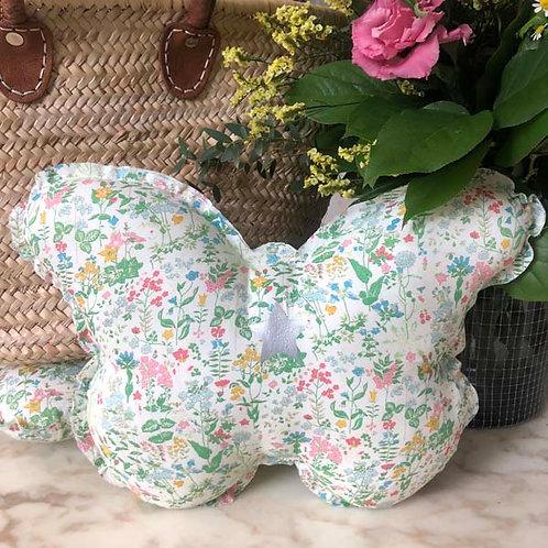 Liberty Print Butterfly Cushion