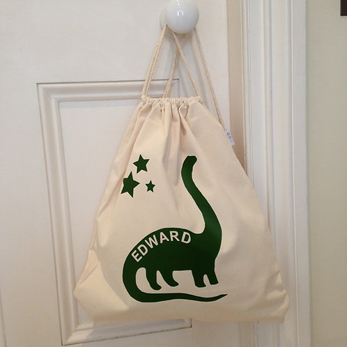 Personalised DIPLODOCUS Drawstring Bag