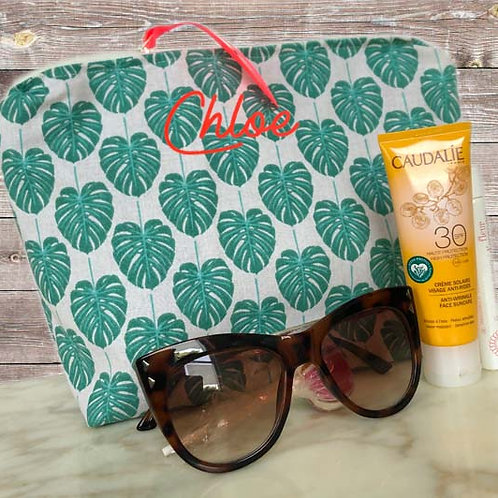 Tropical Leaves Wash Bag New Size
