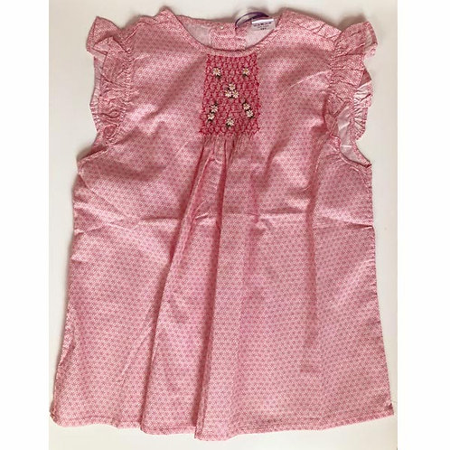 Geometrical Cotton Smocked Blouse12Y