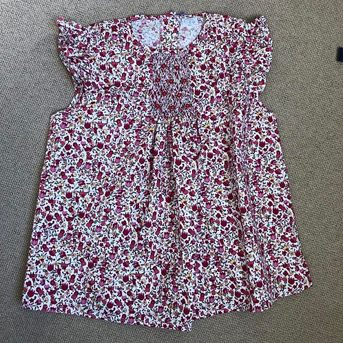 Floral Cotton smocked Blouse 10-12Y