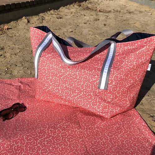 Coral Print MAXI BEACH BAG