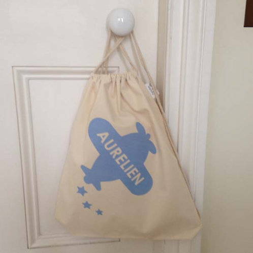 Personalised PLANE Drawstring Bag