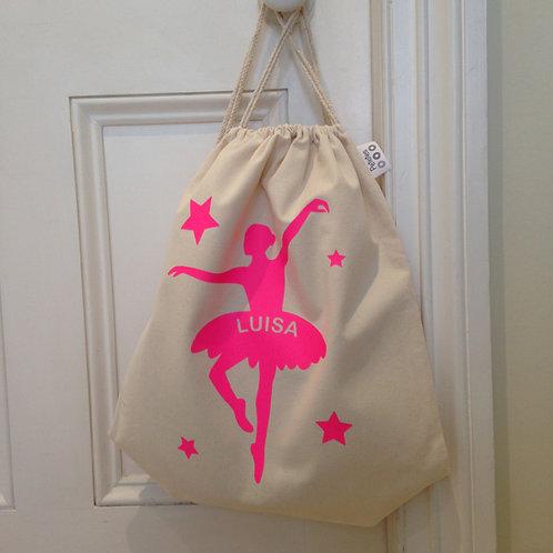 Personalised BALLERINA Drawstring Bag