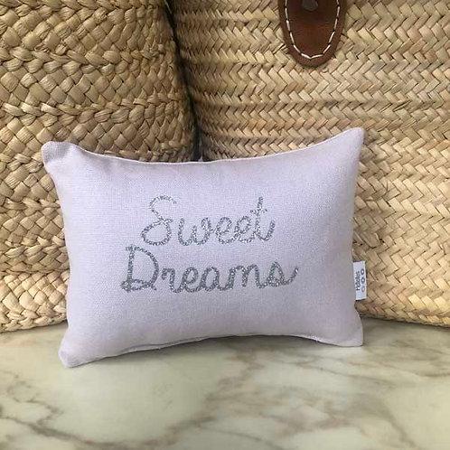 Lilac & Silver Sweet Dreams Mini Cushion