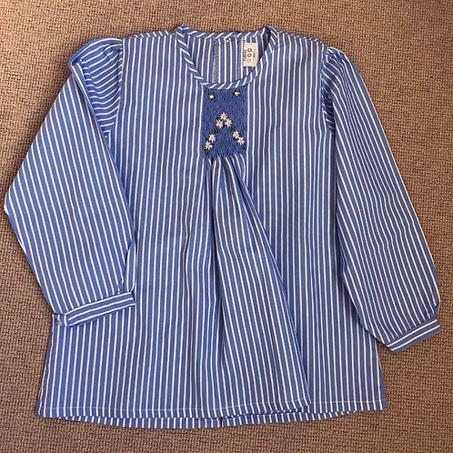 Striped Cotton smocked Blouse 6-12Y