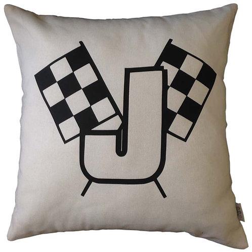 Personalised RACE FLAG Cushion