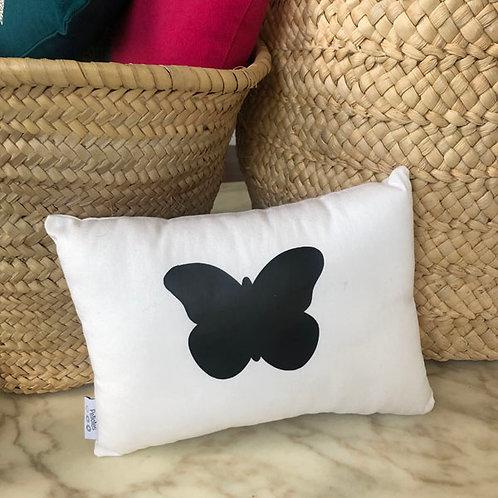 White & Black Butterfly Mini Cushion