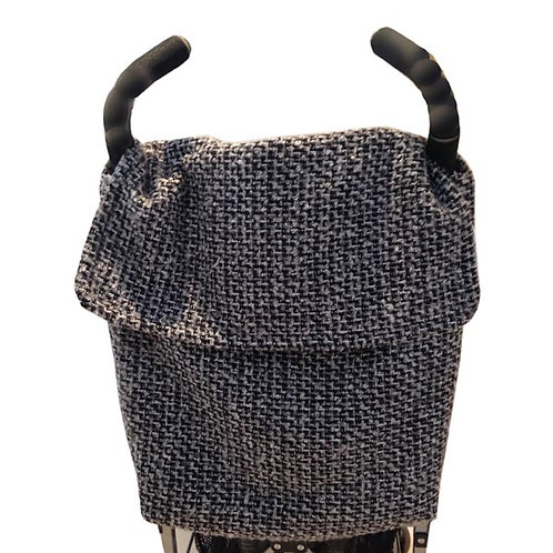 Black / Grey Tweed STROLLER BAG