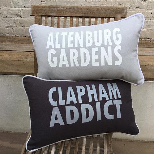 Personalised ADDRESS cushion
