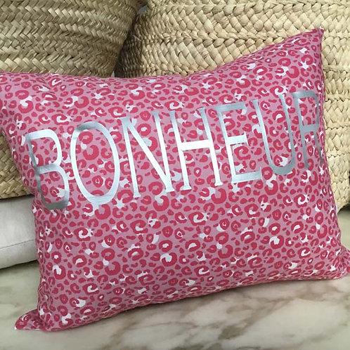 BOHNEUR Pink Leopard Cushion