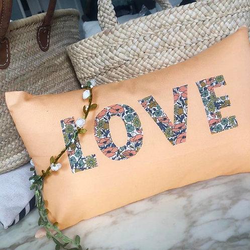 Salmon Liberty LOVE Cushion