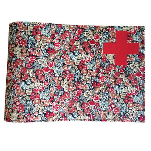 Health Book Cover - Red Liberty & Red cross