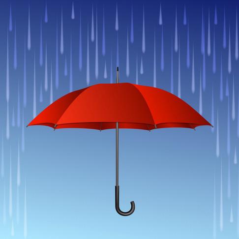When it rains, reach for an umbrella!