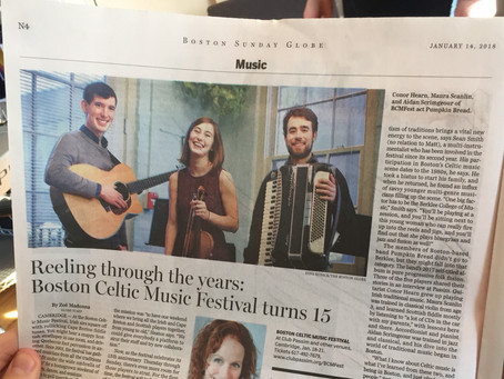 Boston Globe Feature - BCMFest 2018