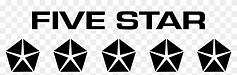 five star black and white png.png