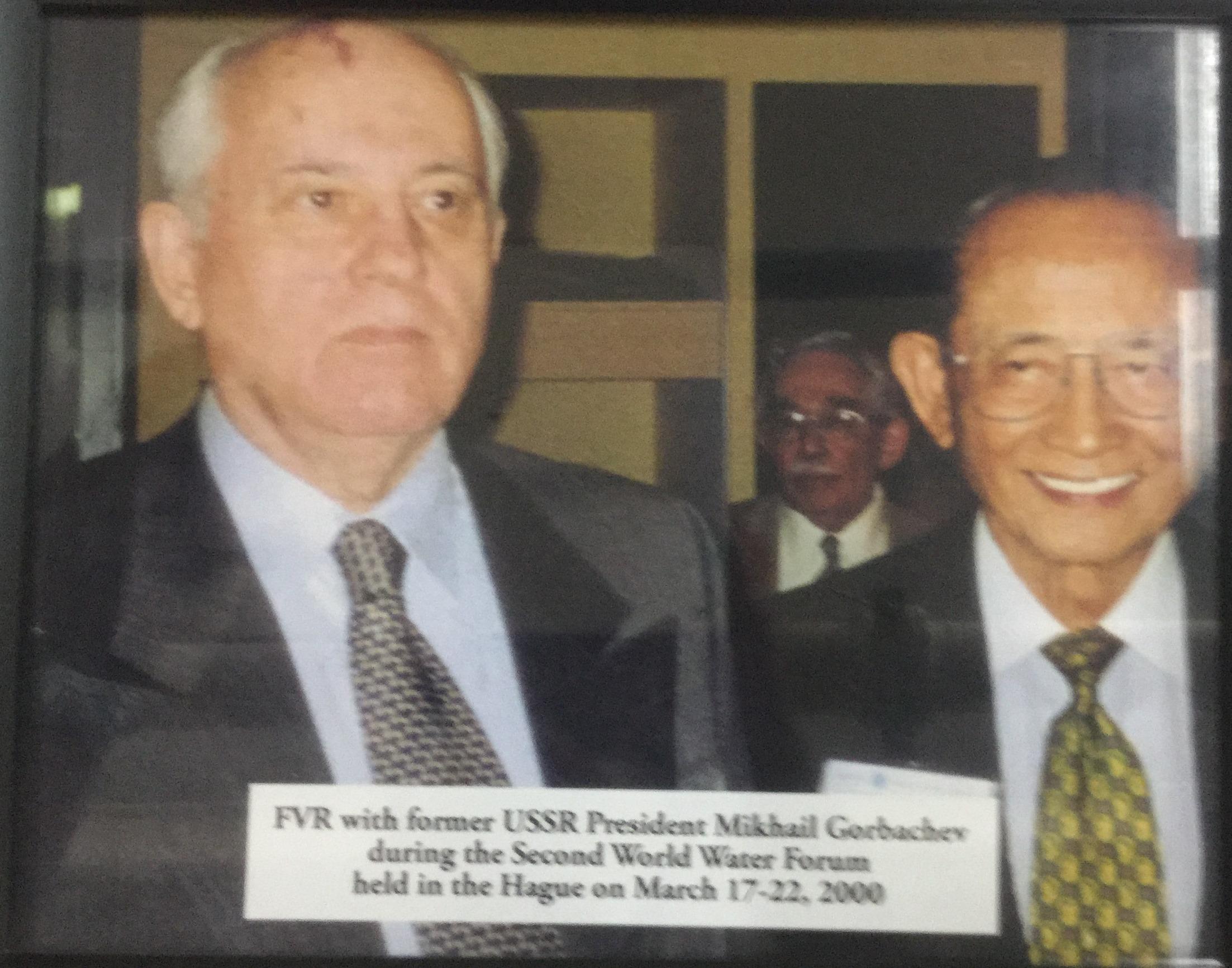 FVR with Former USSR President Mikhail Gorbachev