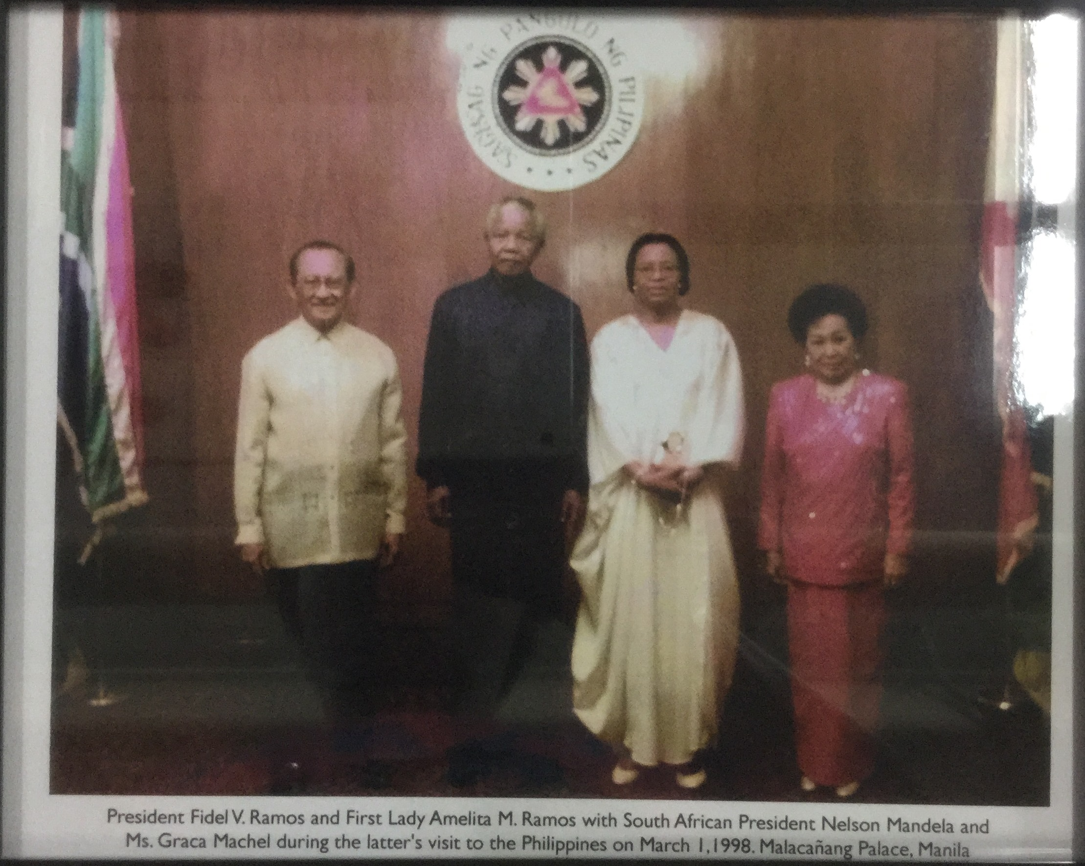 President Fidel V. Ramos and First Lady Amelita M. Ramos with South African President Nelson Mandela