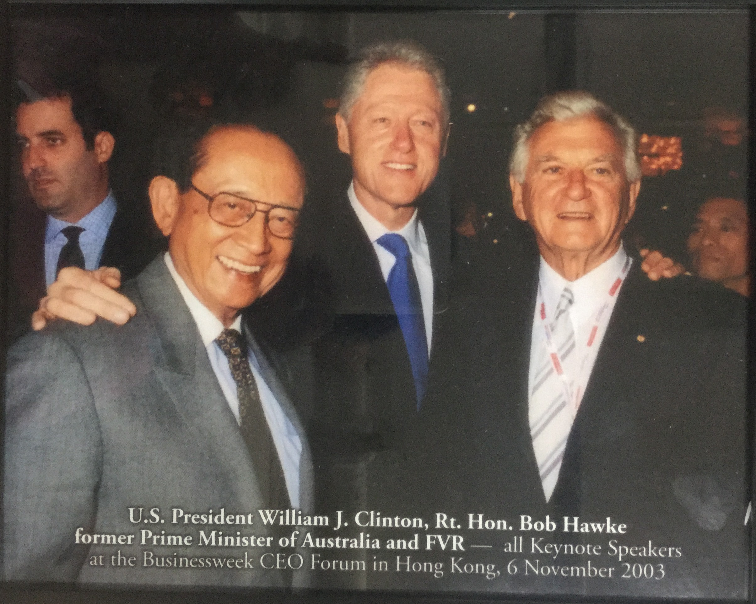U.S President William J. Clinton, Rt. Hon. Bob Hawke former Prime Minister of Australia and FVR