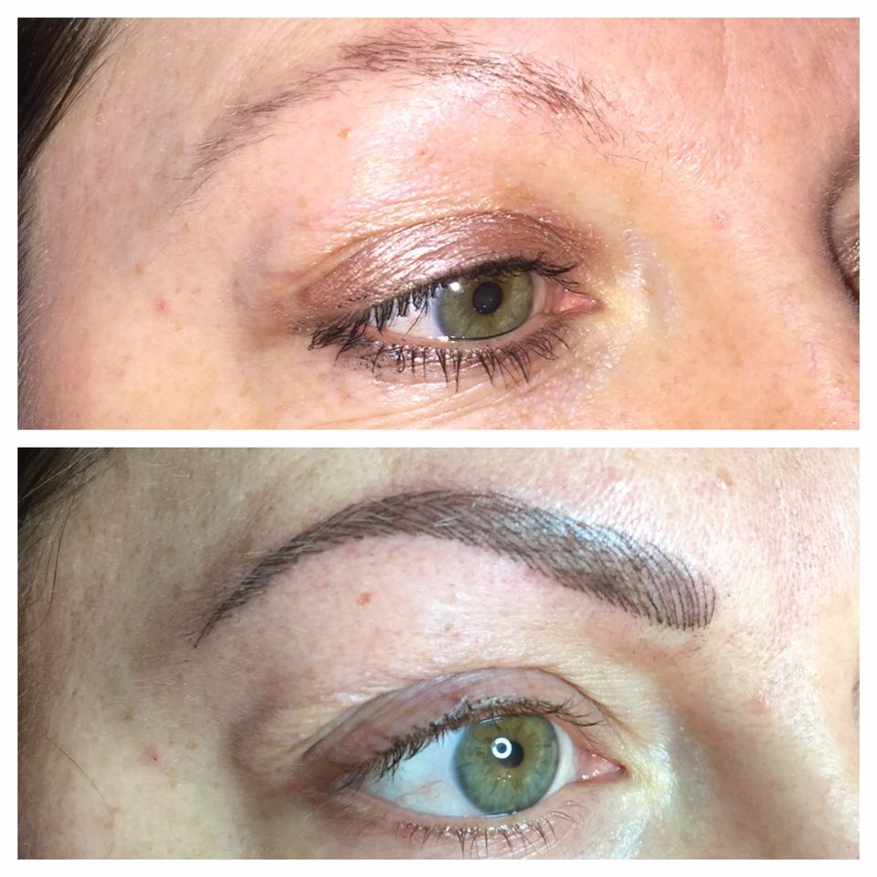 Jodie Brows Before and After
