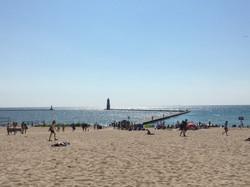 Frankfort public beach