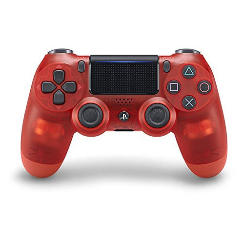 Sony PS4 Dual Shock Wireless Controller Crystal Clear Red Color.