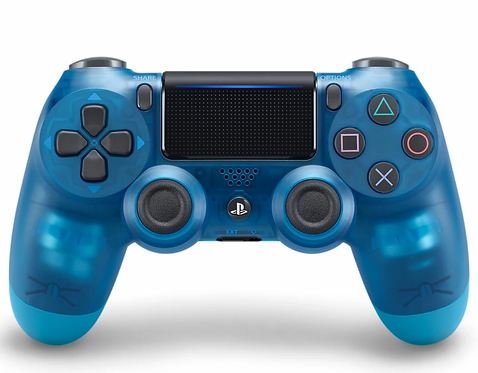 Sony PS4 Dual Shock Wireless Controller Crystal Clear Blue Color.