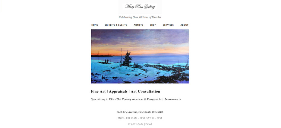 Mary Ran Gallery Home Page