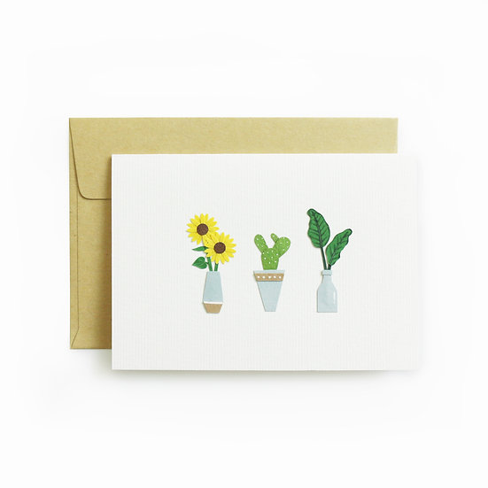 A6 Mini Plants Card 3
